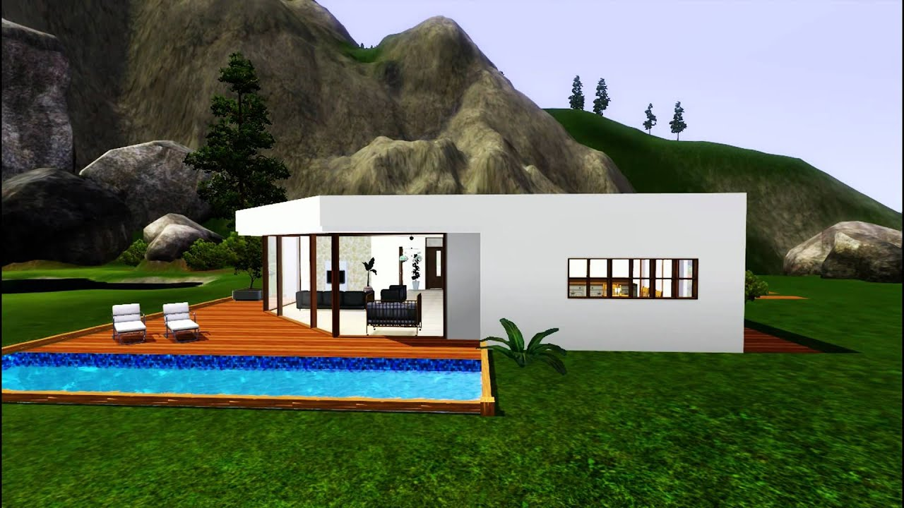 The sims 3 modern house under 50 000 challenge hd for Build a house for under 50k