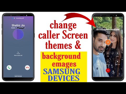Change Caller Screen Themes & Background Photo All Samsung A50,A30,A20,J2,J7,J8, J5