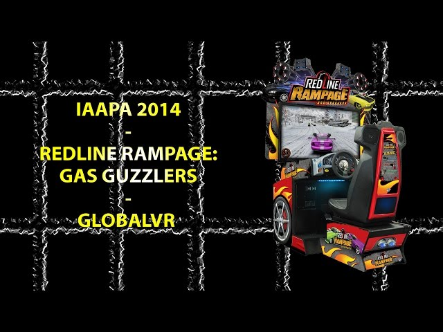 Redline Rampage Driving/Shooting Arcade Game by GlobalVR (IAAPA 2014)