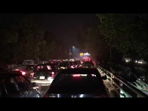 Traffic jam in Lahore