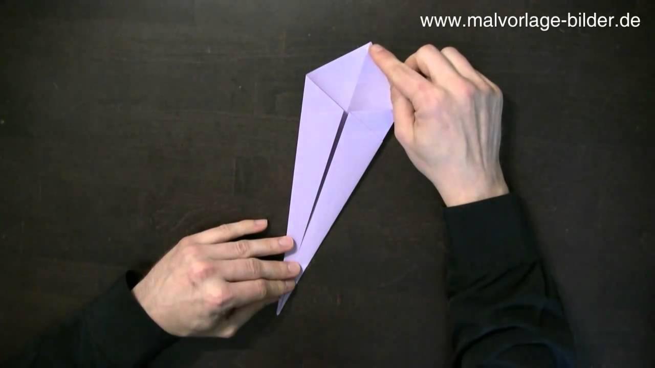 Origami Schwan Faltanleitung - Anleitung zum Falten - YouTube