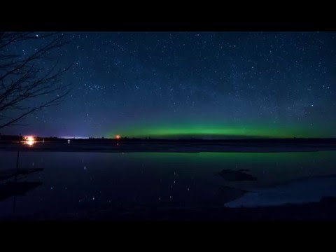 Northern Lights on the Wisconsin River