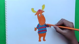 Como dibujar y pintar a Tyrone (Backyardigans) - How to draw and paint Tyrone