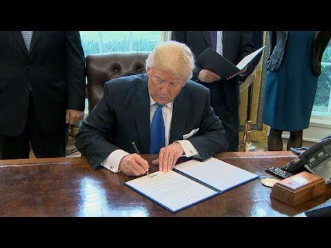 Trump signs oil pipeline executive actions