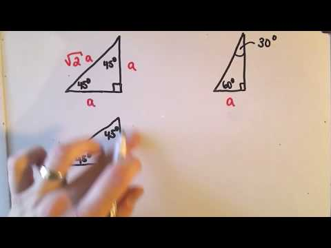 Special Right Triangles in Geometry: 45-45-90 and 30-60-90 ...