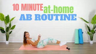 10 MINUTE AT-HOME ABS WORKOUT | Flat Tummy Exercises