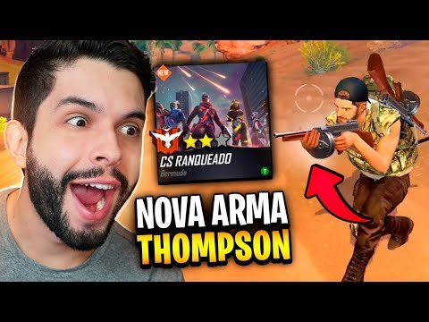 NOVA ARMA THOMPSON E CONTRA SQUAD RANQUEADO NO FREE FIRE!!