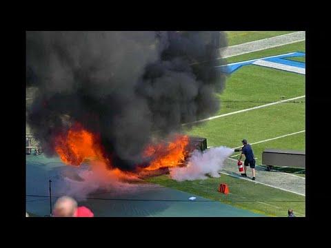 شاهد: حريق في افتتاح مباراة فريق تينيسي تايتانز ونظيره انديانابلوس كولتس…  - نشر قبل 21 دقيقة