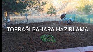Toprağı bahara hazırlama, gübreleme ve çapa