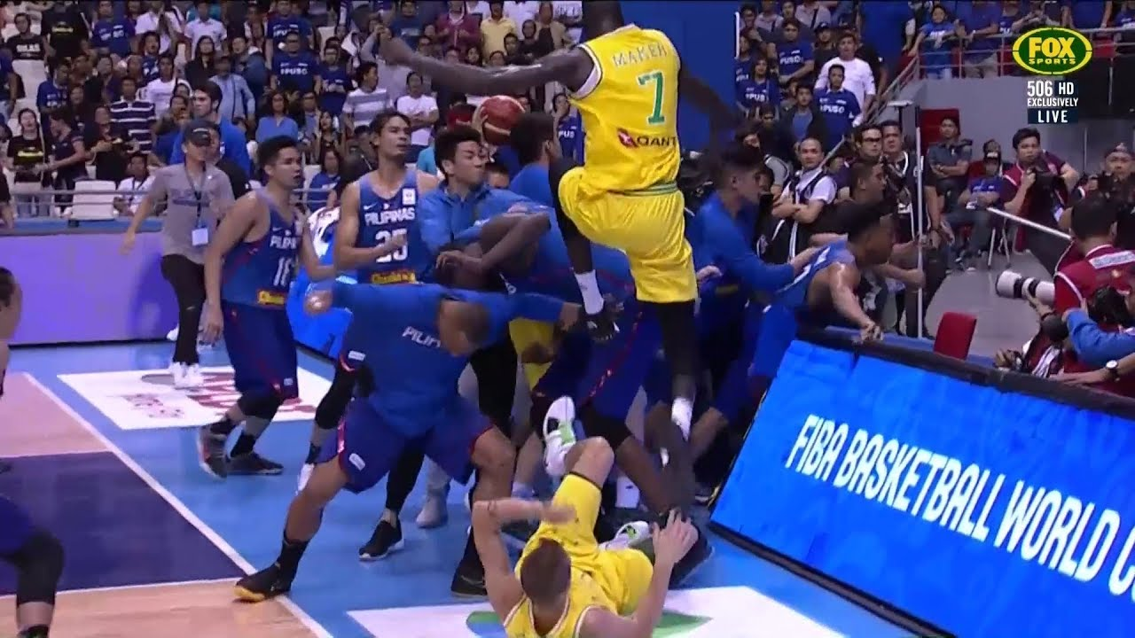 FIBA WC qualifier Philippines vs Australia brawl and 5 vs 3 aftermath