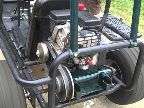 GoKart new torque converter and throttle hookup