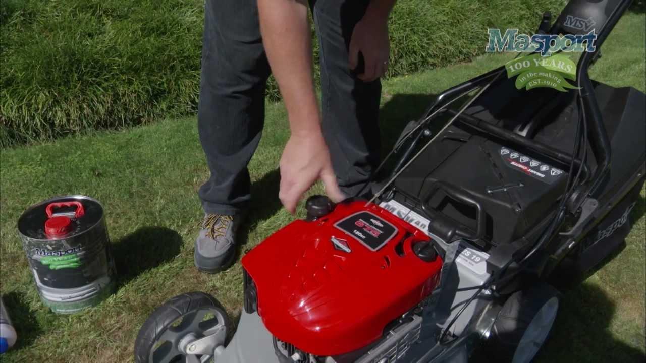 masport lawnmowers start up lawnmower procedure youtube rh youtube com