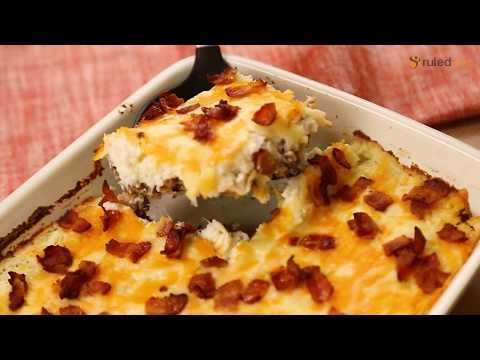 Keto Loaded Cauliflower And Meatloaf Casserole Recipe