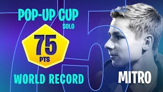 Mitr0 – WORLD RECORD – 75 pts solo Pop-up Cup