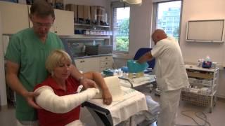 Attelle pour une fracture du coude (BAB)
