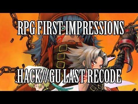 RPG First Impressions - .hack//G.U. Last Recode
