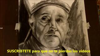 Dibujo en Carboncillo por Carlos Andrade Colombia (02). How to draw with charcoal