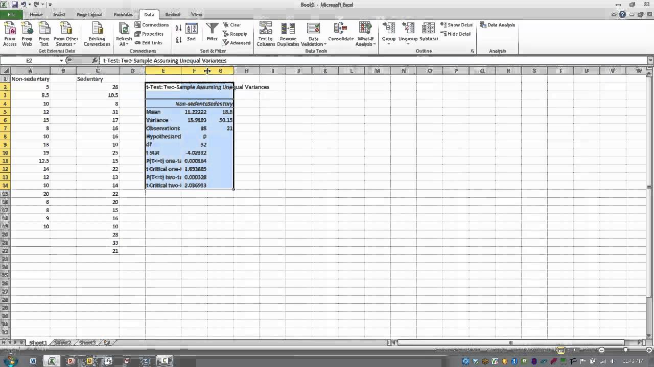 how to work out variance in excel