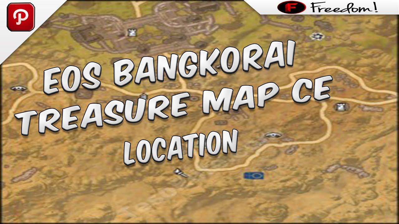 elder scrolls online bangkorai treasure map ce location youtube