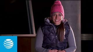 US Olympic Hopeful Noelle Pikus-Pace - Sochi 2014  | AT&T