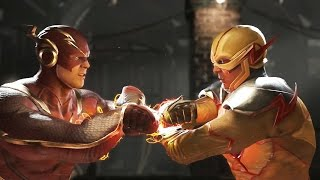 INJUSTICE 2 Flash vs Reverse Flash/Jay Garrick (Golden Age Flash) Clash Dialogue