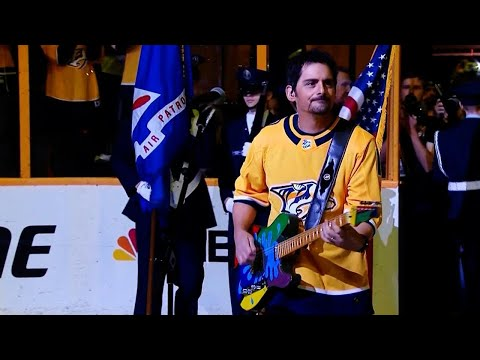 Brad Paisley sings national anthem for Predators' Game 2