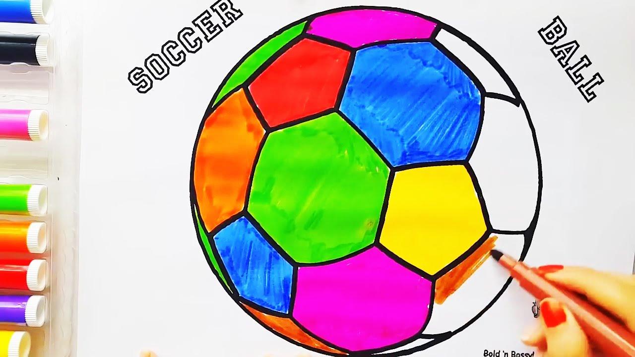 Футбольный мяч. Раскраска для детей своими руками ...
