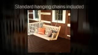 Al Furniture Co. Traditional English Red Cedar Porch Swing -