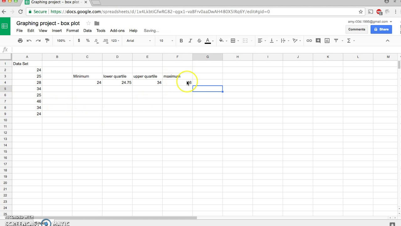 How to Make a Boxplot on Google Sheets
