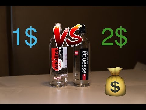 1$ Dollar VS 2$ Bottled High PH ALKALINE Water. Whats The Difference?