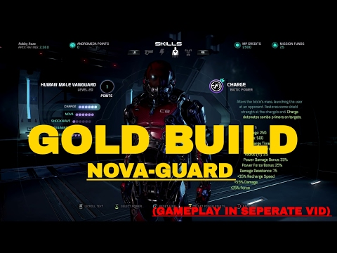 Mass Effect Andromeda Multiplayer: Level 20 Gold Human Vanguard Build and Analysis- Gold Certified!