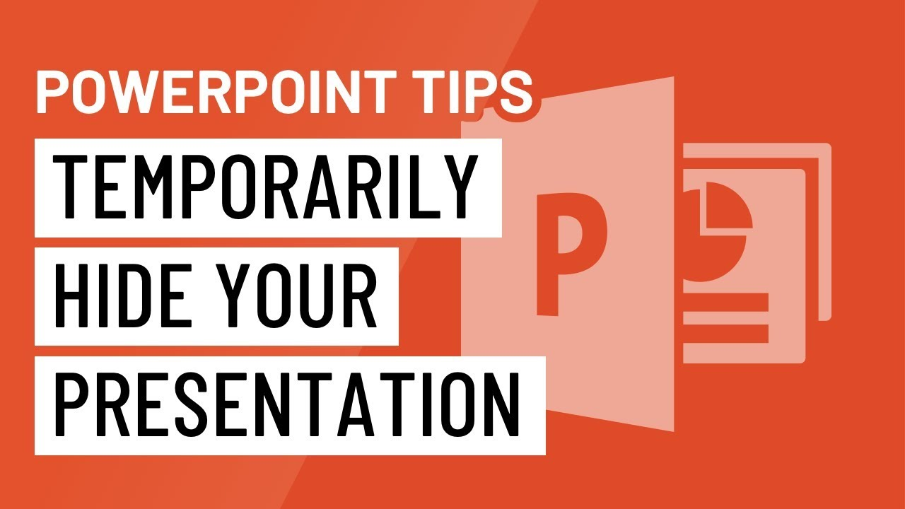 PowerPoint Quick Tip: Temporarily Hide Your Presentation