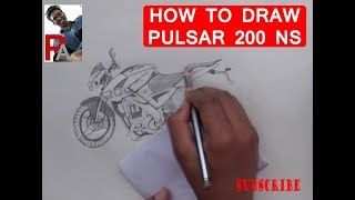 HOW TO DRAW pulsar 200 ns