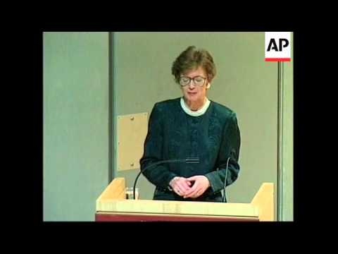 USA: MARY ROBINSON SPEAKS AT GENOCIDE CONVENTION
