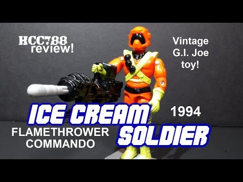 HCC788 - 1994 ICE CREAM SOLDIER - Flamethrower Commando - Vintage G.I. Joe toy! S03E33