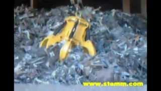 STEMM Electrohydraulic Orange Peel Motor Grab for scrap