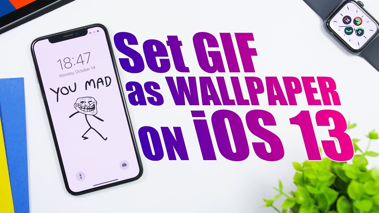 Set Any Gif As An Iphone Wallpaper On Ios 13 Youtube