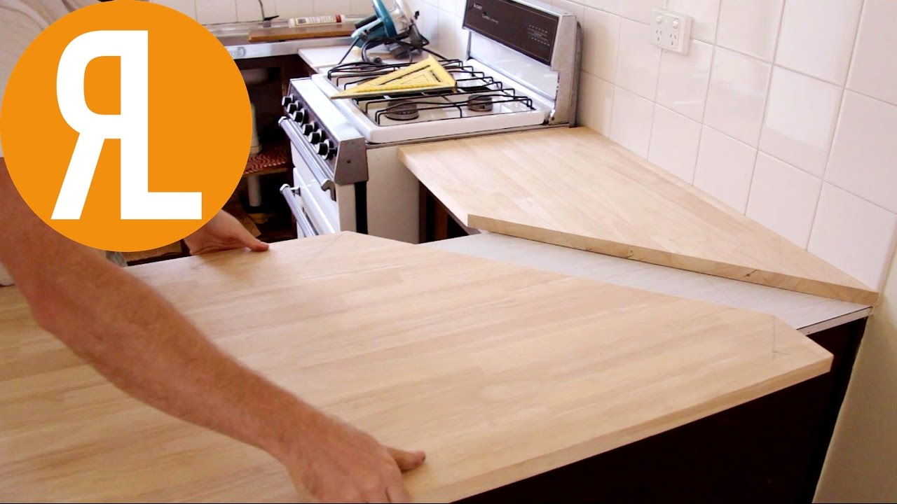 How To Install A Countertop Without Removing The Old One Woodworking Youtube