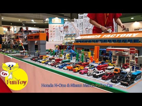 Cars 2 play set How to make fun toy with tomica toy car Honda N One & Nissan March Police Car