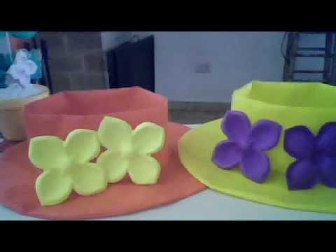 moldes rosas en goma eva para capelinas - YouTube