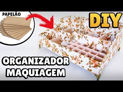 DIY: HOW TO MAKE MAKEUP ORGANIZER with CARDBOARD