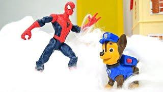 Мультики Бюро находок - Человек паук и Чейз играют в снежки!