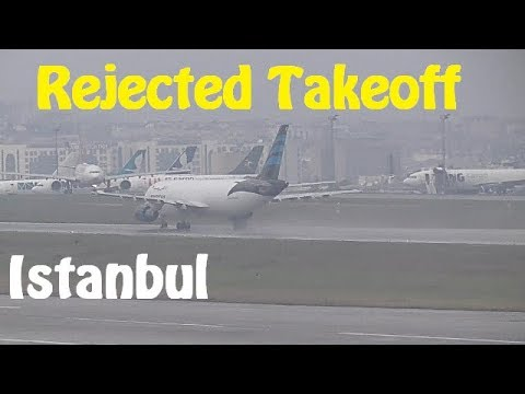 Dangerous Rejected Takeoff - End of Runway - Afriqiyah Airways at Istanbul Airport