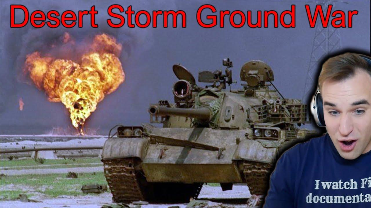 Estonian Soldier reacts to Desert Storm ground war