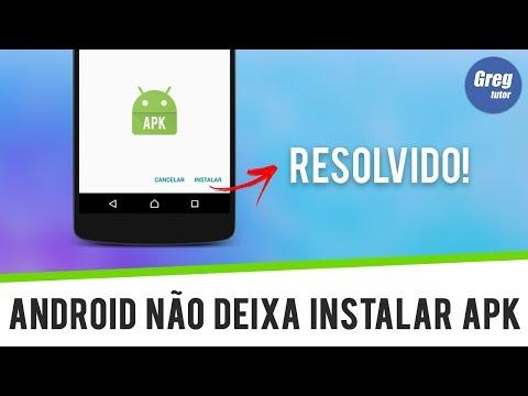 Android não deixa instalar aplicativo apk - RESOLVIDO - YouTube
