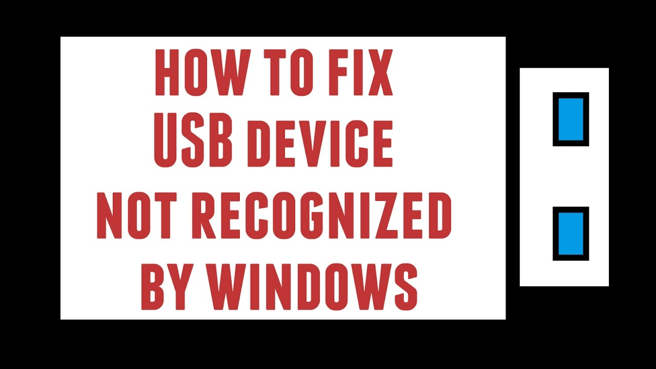 How to Fix USB device not recognized (Error Code 43)