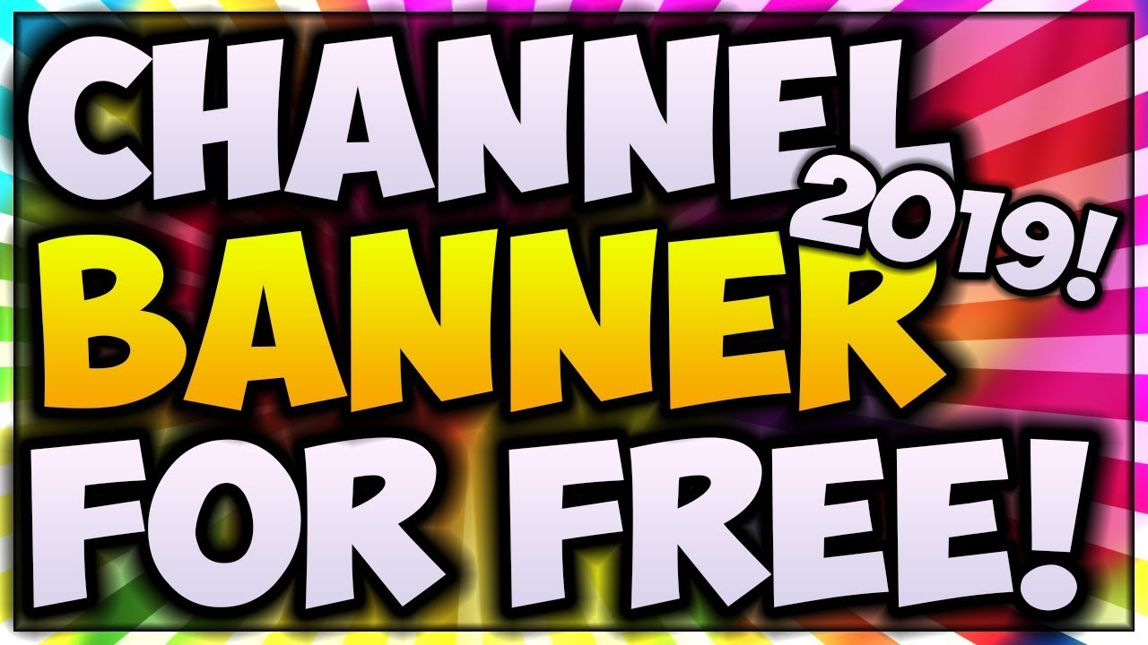 How To MAKE YouTube Channel Art For FREE (2019) 🎨 Make A YouTube Banner  WITHOUT Photoshop! (Pixlr)