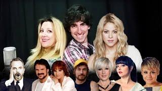 Shakira - ME ENAMORÉ (Parodia) - 24 voces famosas