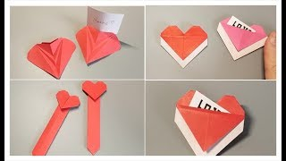 DIY and CRAFT | How to Quickly Fold a Love Letters | Handmade Beauty