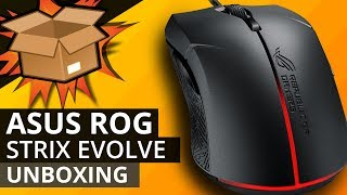 ASUS ROG STRIX Evolve Mouse UNBOXING - Gamer mouse with swapable buttons